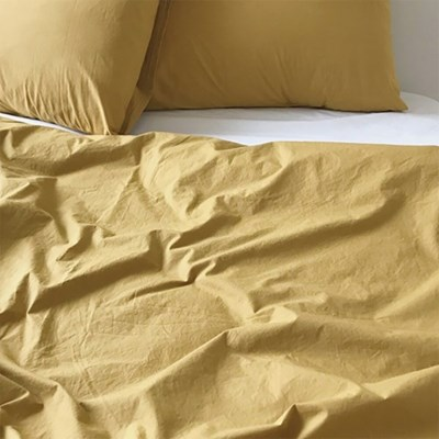 Solid Bedding Cover (Olive Mustard)