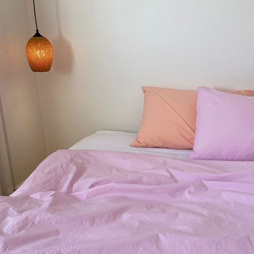 Solid Bedding Cover (Pink Panther)