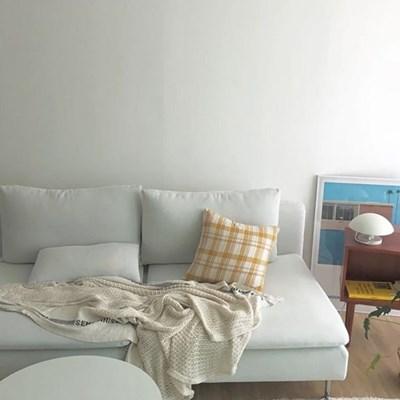 Aurora Yellow Check Cushion Cover