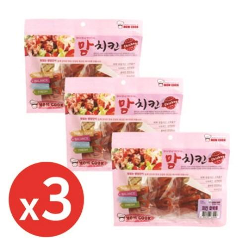 맘쿡(300g) 치킨 영양호박롤 x3개 강아지간식