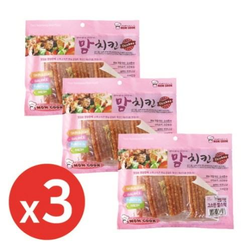맘쿡(300g) 고소한쌀스틱 x3개 강아지간식