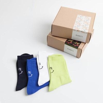 [4족+선물세트]하이바이 백포인트 스포티 삭스 BIZ_011