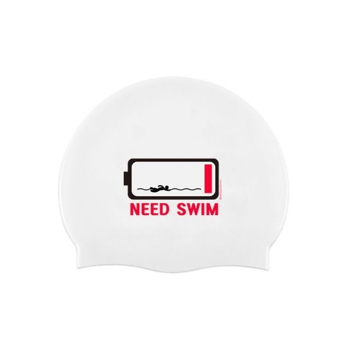 니드스윔 수영모자 Need Swim Swimcap White