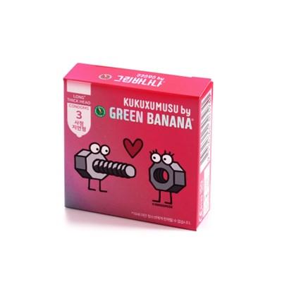 [스페인갬성 콘돔] 쿠쿠스무스 By 그린바나나 - 사정지연형 콘돔 3p