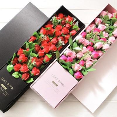 그레이스로즈박스 핑크 로즈데이 프로포즈 꽃다발_(2655285)
