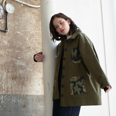 Camouflage Cotton Jacket (Khaki)