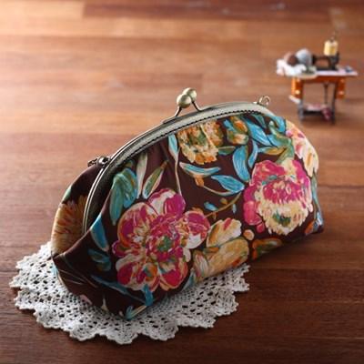 (퀼트diy) 25cm프레임가방만들기 플로라 (체인별도구매)