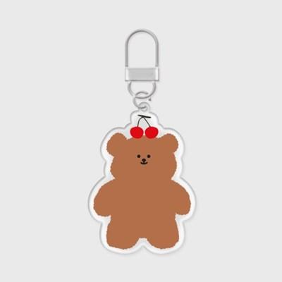 cherry slow bear 아크릴키링
