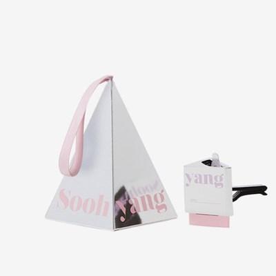 수향 차량용 디퓨저 벤트클립 Silver Pink