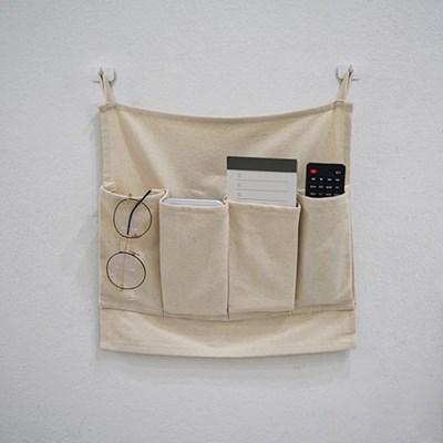 블랭크 광목 리모컨 수납걸이 / 다용도 정리함 (RM 278001)