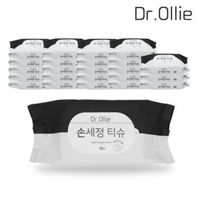닥터올리 휴대용 손세정티슈 30매 24팩 에탄올함유