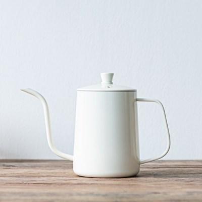[칼딘] 아이보리 테프론 커피 드립포트 핸드드립주전자 600ml