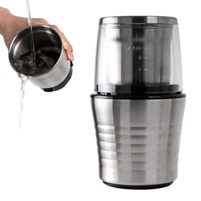[칼딘] 디테처블 푸쉬다운 전동 원두 커피 그라인더 분쇄기 KWG-130B