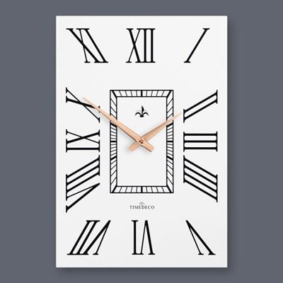 로즈골드 시계바늘과 로마숫자의 세련된 디자인 조합