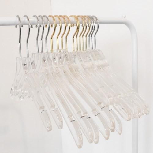 튼튼한 아크릴 투명 가정용옷걸이 카페 의류매장 성인 아동옷거리