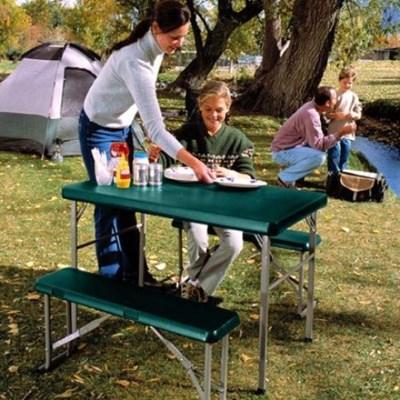 라이프타임 접이식 야외 테이블 의자 세트 T80188