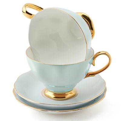 차모아 커피잔 디어 캐서린 컵 소서 2인조 스카이블루_(1322692)
