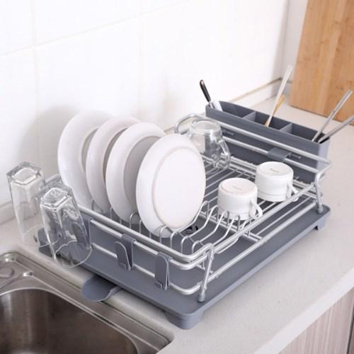 물빠짐 알루미늄 식기건조대 그릇 정리대 1단