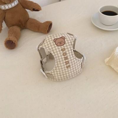 [이름 각인] Bear check harness