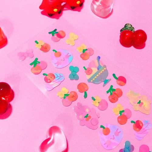 영롱한 Sweet Cherry 칼선 스티커