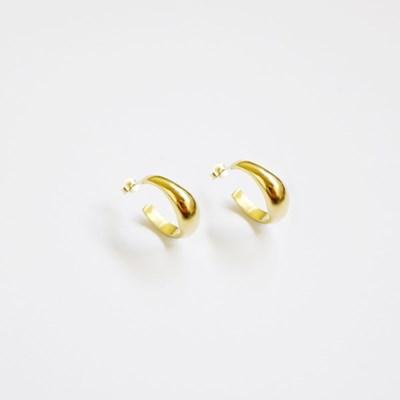 Old Smooth Ring Earring (Meterial-silver)