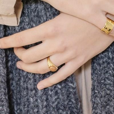 Diagonal Setting Ring (Gold)