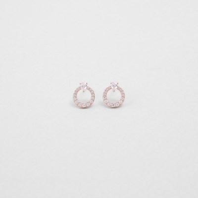 [쥬디앤폴] 리비아 라운드 크리스탈 귀걸이 E51400