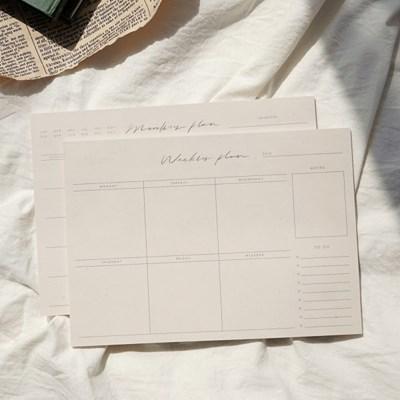 캘리그라피 위클리 플랜 패드 Calligraphy Weekly Plan Pad