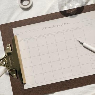 캘리그라피 먼슬리 플랜 패드 Calligraphy Monthly Plan Pad