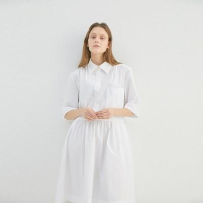 CLOVER HALF SHIRT DRESS (2COLORS)