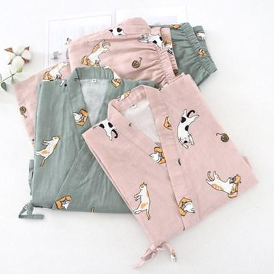 고양이 유카타 커플잠옷세트