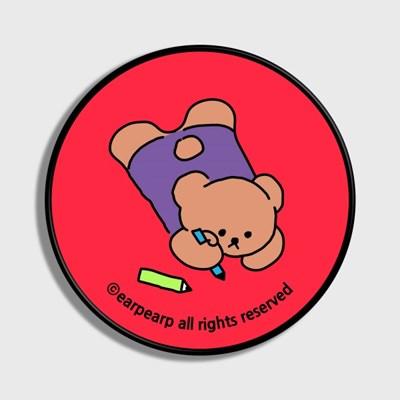 Doodle bear-hot pink(스마트톡)_(1520755)