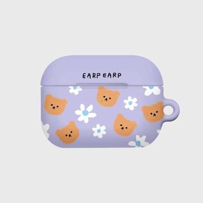 Dot flower bear-purple(Hard air pods pro)_(1520312)