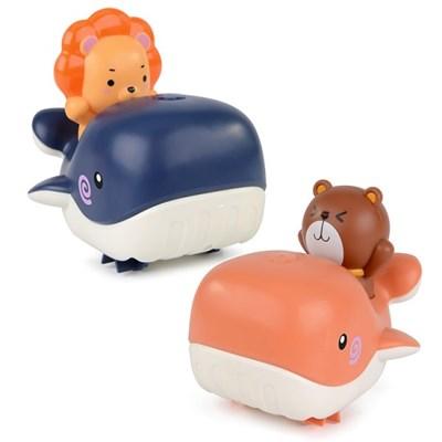 레츠토이 테디 라이언 수륙양용 고래보트 유아 목욕놀이