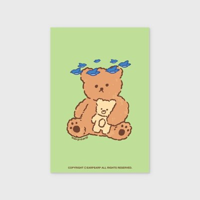 Blue bird bear(엽서)_(1524797)