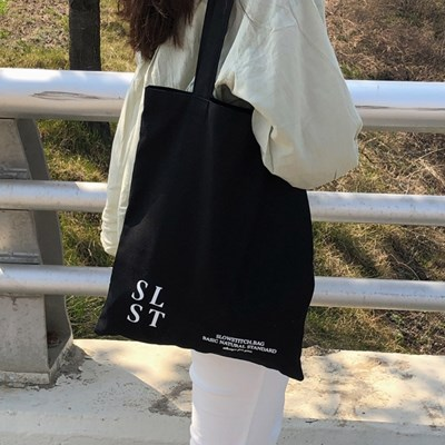 slowstitch simple logo bag ( black )