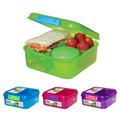 시스테마 BPA-free 벤토 큐브 런치 박스 도시락통 1.25L_(970904)