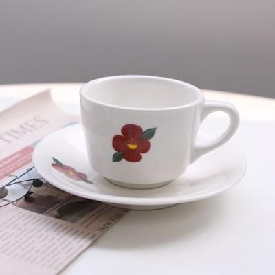 동백 커피잔 세트