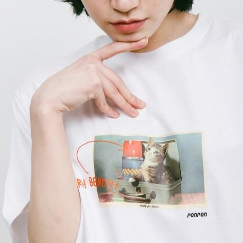 BENDY CAT T-SHIRT WHITE