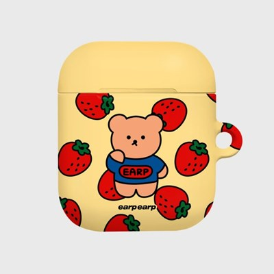 strawberry bear-yellow(Hard air pods)_(1530469)