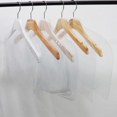 투명 옷걸이커버 세탁소비닐 PVC 수트 의류커버 옷가게 10묶음