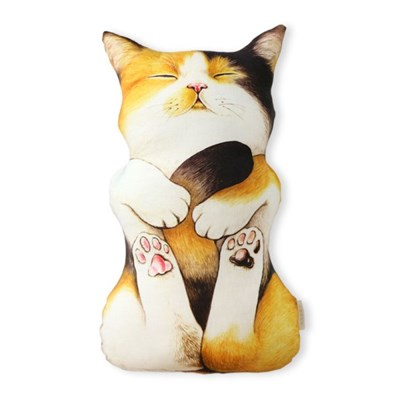 쿠션 - 삼색 아기고양이