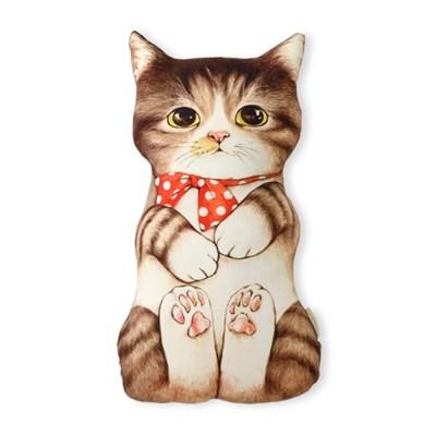 쿠션 - 고등어태비 아기고양이