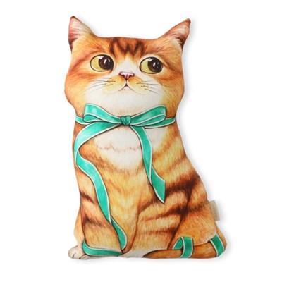 쿠션 - 리본아기고양이