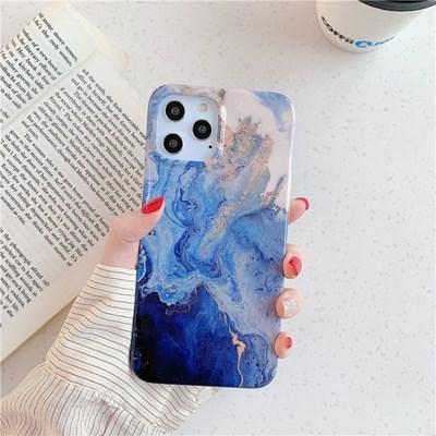 블루 골드 마블 아이폰12 프로 맥스 미니 케이스