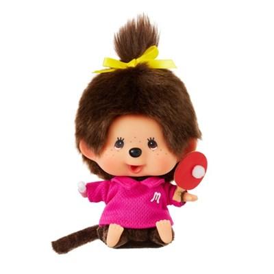 Let's Sports Monchhichi Ping-Pong Girl Big Head S