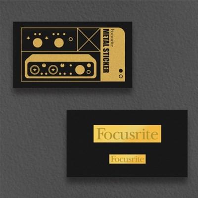 [focusrite] 포커스라이트 로고 메탈 스티커 세트