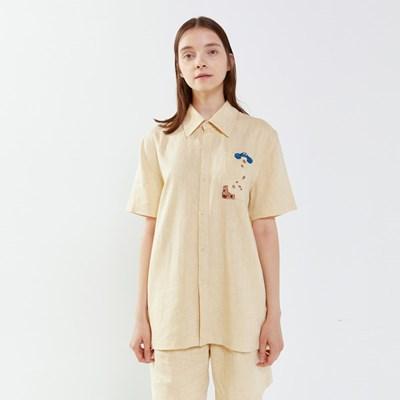 [SM20 SV X Sesame Street] Linen mixed Shirts(Ivory)