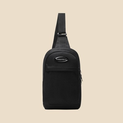 RUBBER LOGO SLING BAG