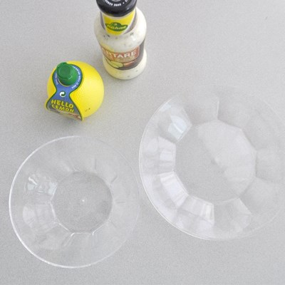 홈파티 투명 아크릴 원형 접시